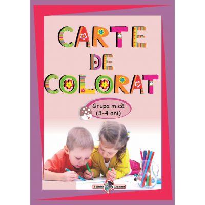 Carte De Colorat Grupa Mica 3 4 Ani Edituradiamantro
